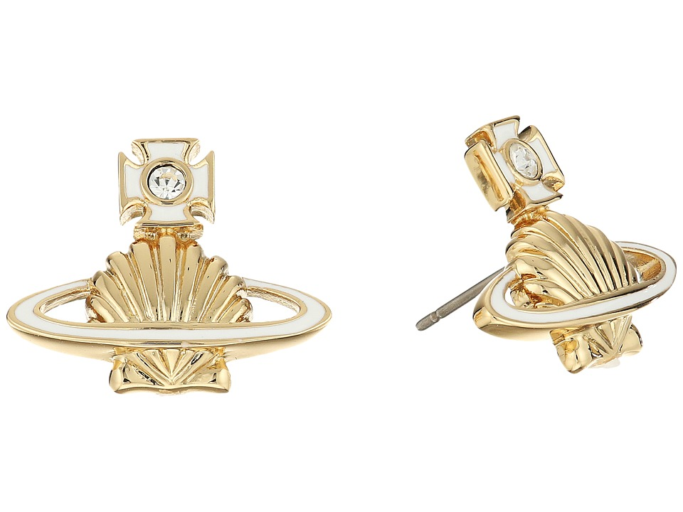 Vivienne Westwood - Medea Bas Relief Earrings (White) Earring