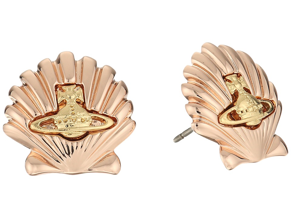 Vivienne Westwood - Shell Earrings (Pink Gold/Gold) Earring