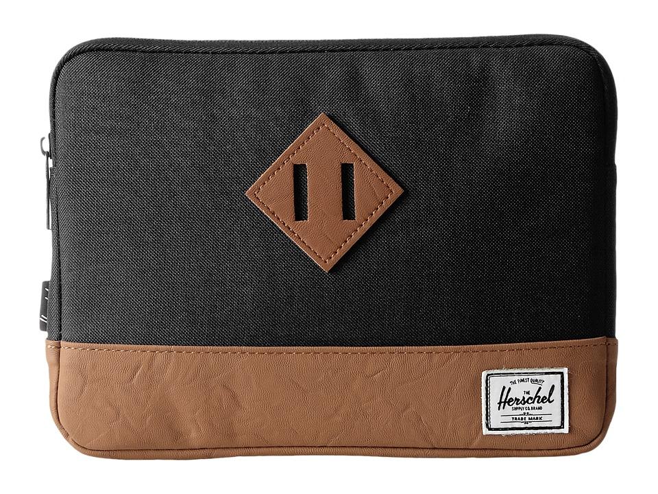 Herschel Supply Co. - Heritage Sleeve for iPad Air (Black/Tan) Wallet