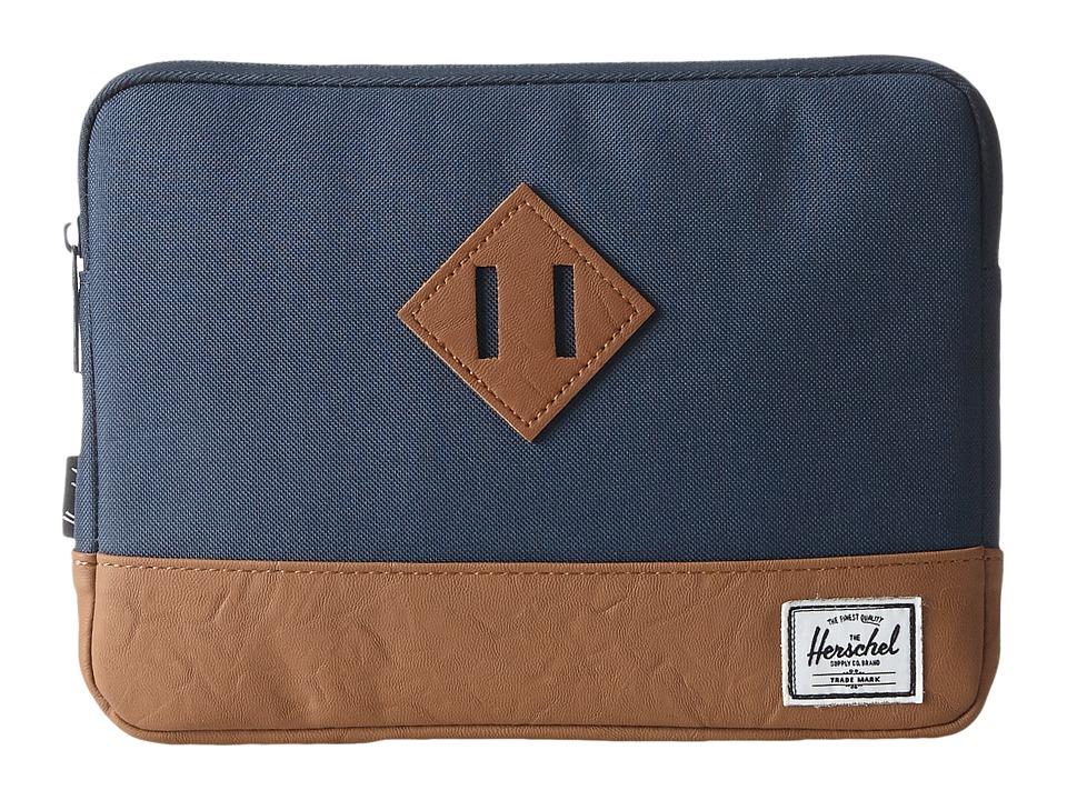 Herschel Supply Co. - Heritage Sleeve for iPad Air (Navy/Tan) Wallet