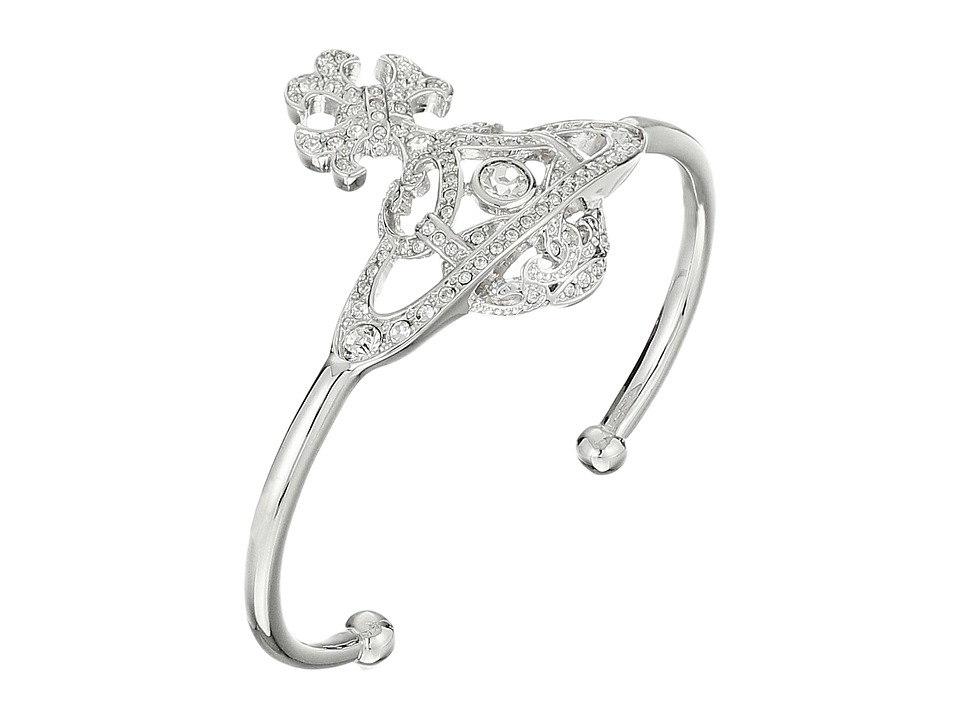 Vivienne Westwood - Cassandra Open Bangle (Crystal) Bracelet