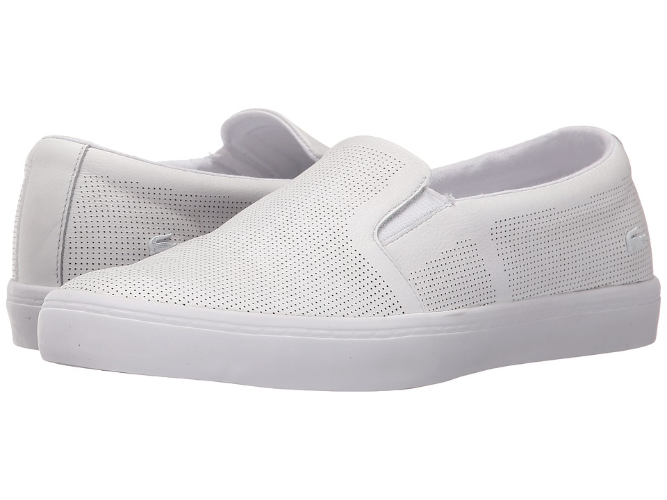 Lacoste - Gazon Slip-On (White) Women's Slip on Shoes