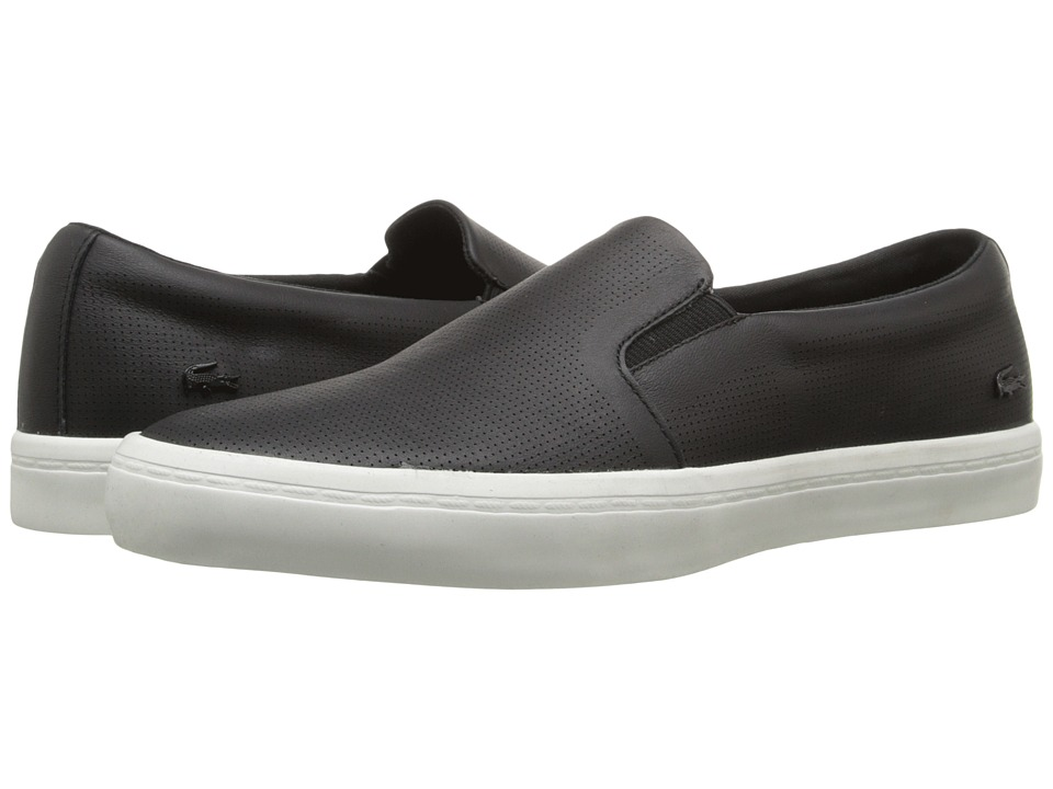 Lacoste - Gazon Slip-On (Black) Women's Slip on Shoes