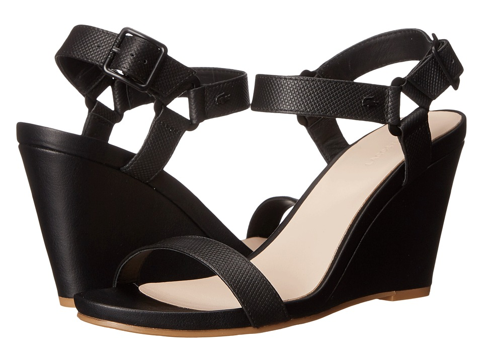 Lacoste - Karoly (Black) Women's Wedge Shoes