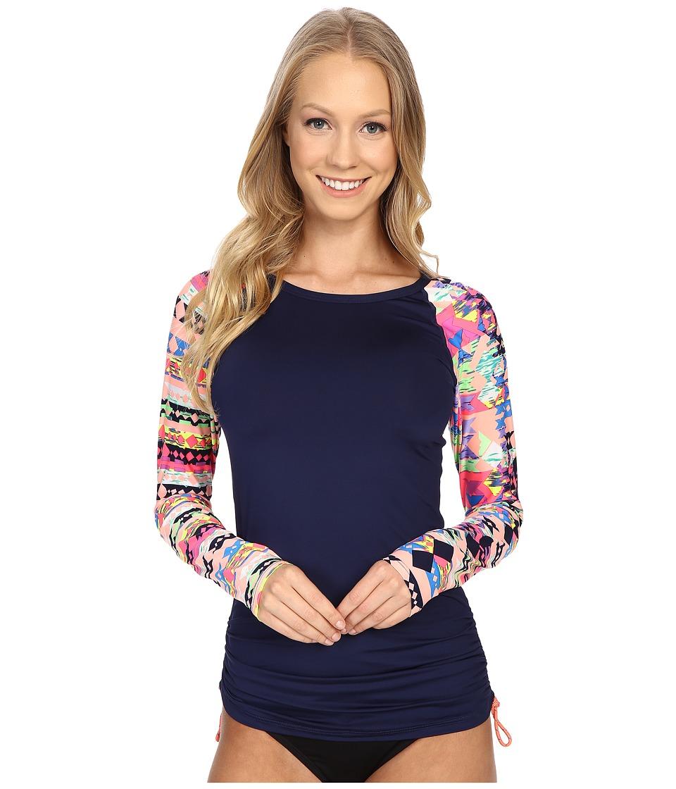 TYR - Boca Chica Long Sleeve Swim Shirt (Coral) Women's Swimwear