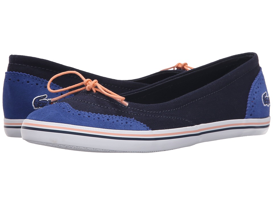 Lacoste - Loxia (Navy/Blue) Women's Flat Shoes