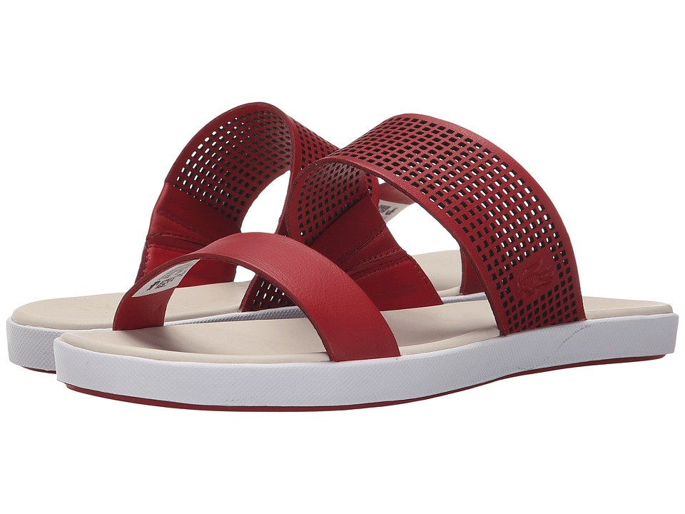 Lacoste - Natoy Slide (Dark Red) Women's Slide Shoes