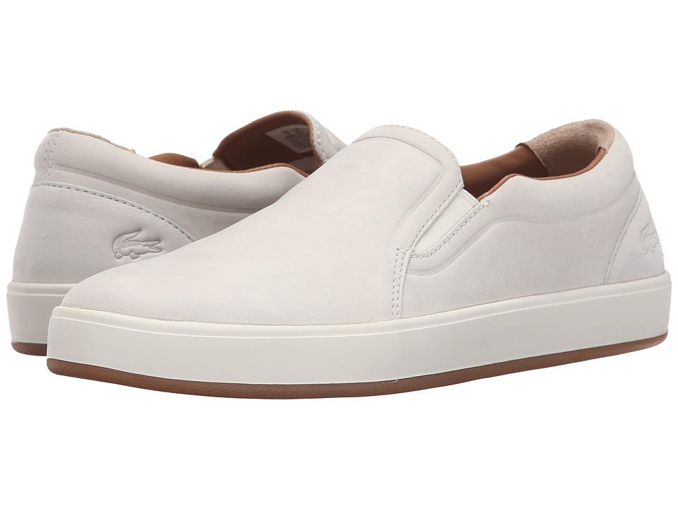 Lacoste - Tamora Slip (Off-White) Women's Slip on Shoes
