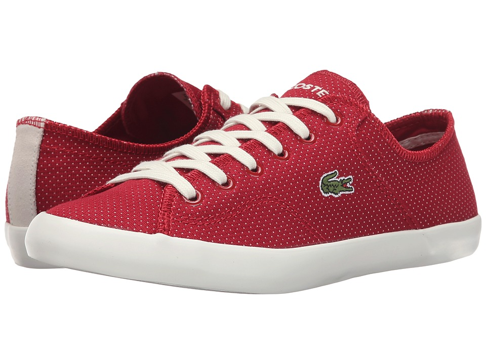 Lacoste - Ramer (Dark Red) Women's Lace up casual Shoes