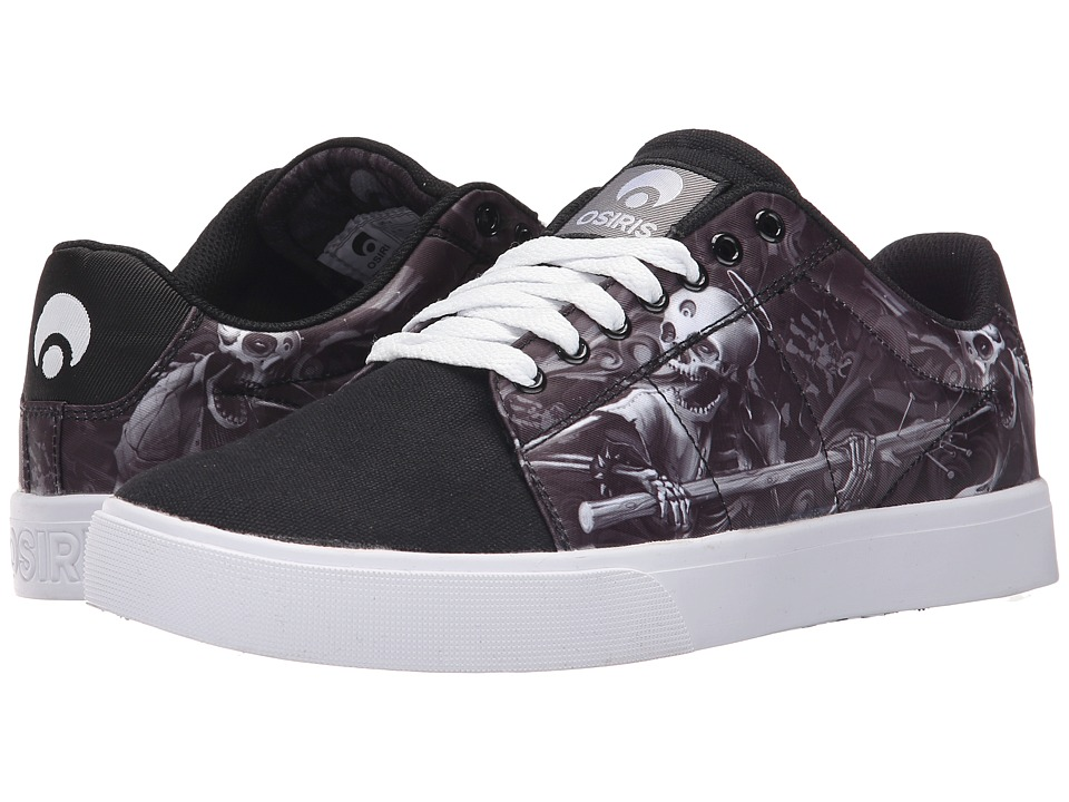 Osiris - Rebound VLC (Huit) (Black/White/Haunted) Men's Skate Shoes