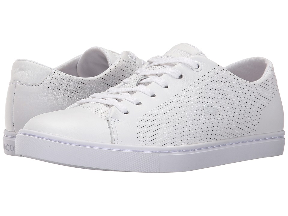 Lacoste - Showcourt Lace (White) Women's Lace up casual Shoes
