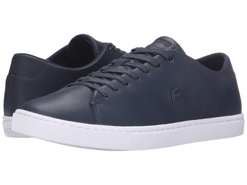Lacoste - Showcourt Lace (Navy) Women's Lace up casual Shoes