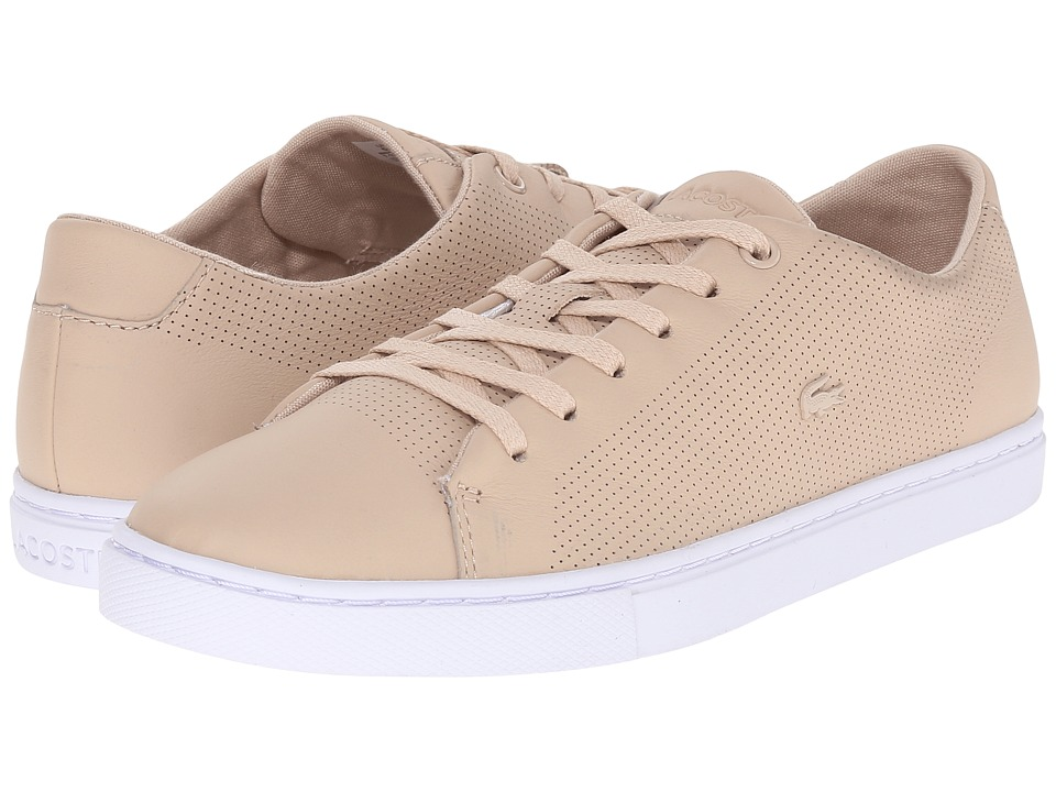 Lacoste - Showcourt Lace (Natural) Women's Lace up casual Shoes