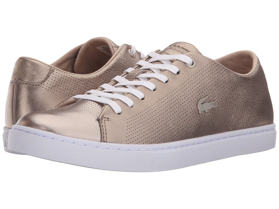 Lacoste - Showcourt Lace (Gold) Women's Lace up casual Shoes