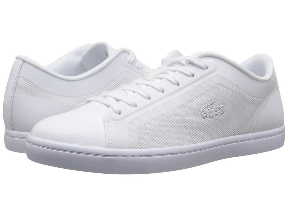 Lacoste - Straightset (White) Women's Lace up casual Shoes