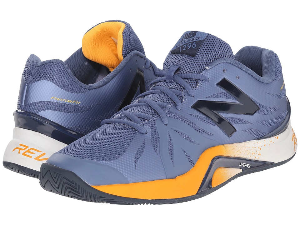 New Balance - MC1296v2 (Grey/Yellow) Men's Tennis Shoes