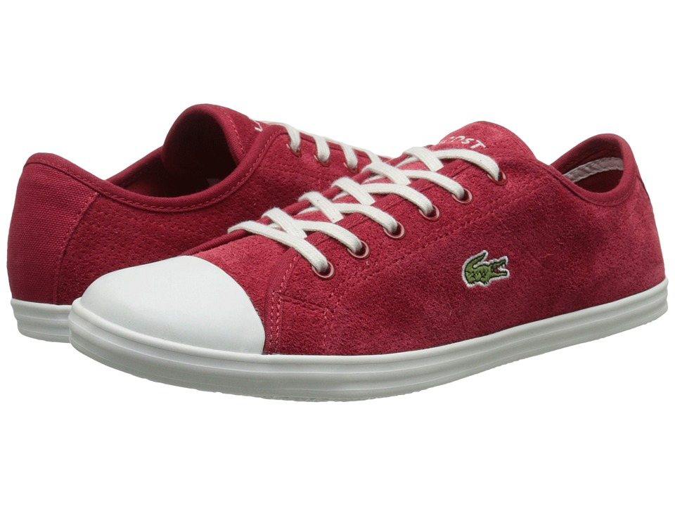 Lacoste - Ziane Sneaker (Dark Red) Women's Lace up casual Shoes