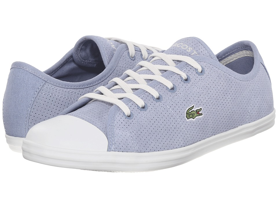 Lacoste - Ziane Sneaker (Light Blue) Women's Lace up casual Shoes