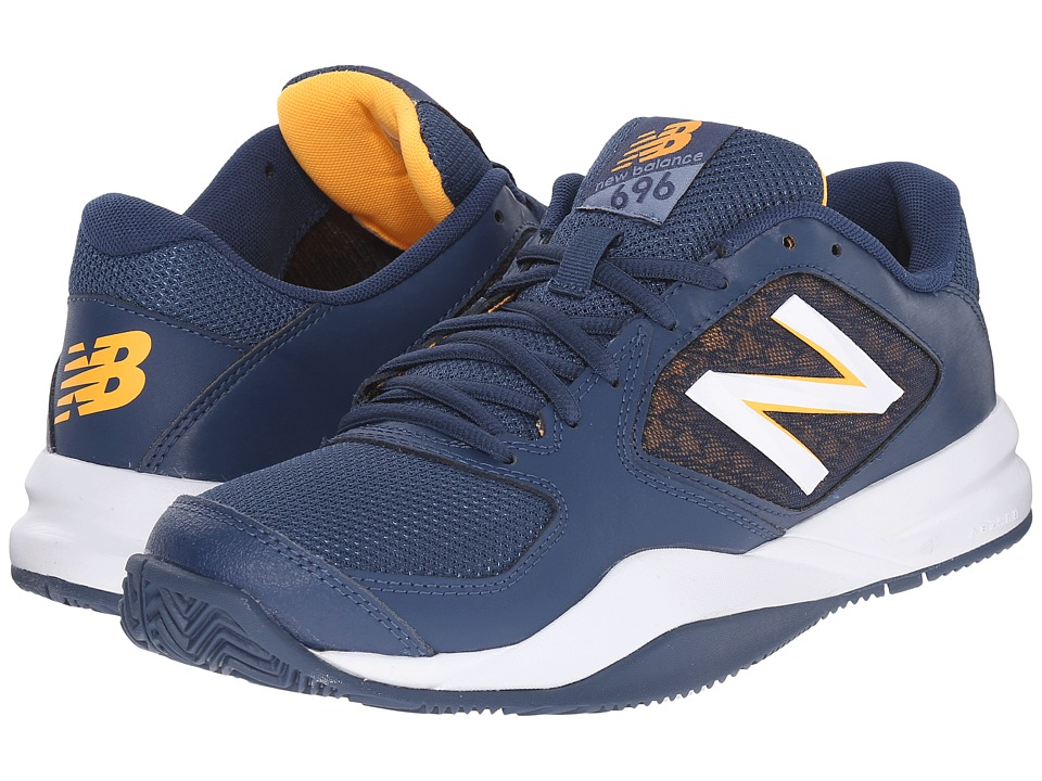 New Balance - MC696v2 (Navy/White/Impulse) Men's Tennis Shoes