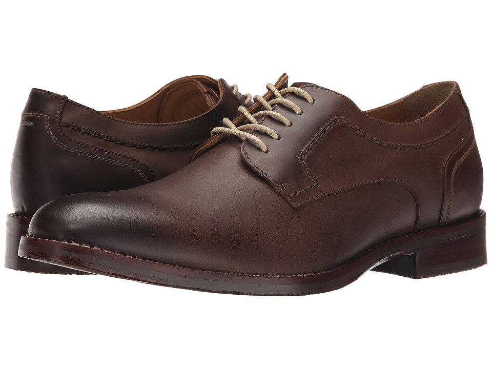 Johnston & Murphy - Garner Plain Toe (Tan Oiled Leather) Men's Lace up casual Shoes
