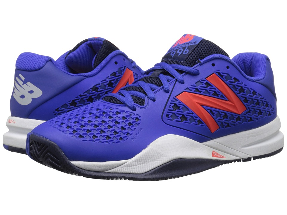New Balance - MC996v2 (Blue/Orange) Men's Tennis Shoes