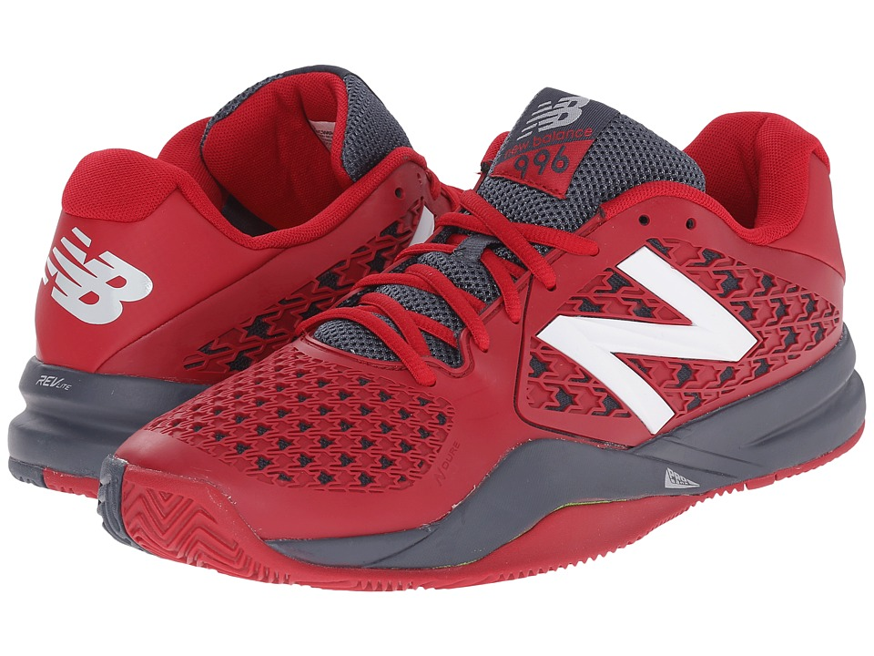 New Balance - MC996v2 (Red/Grey) Men's Tennis Shoes