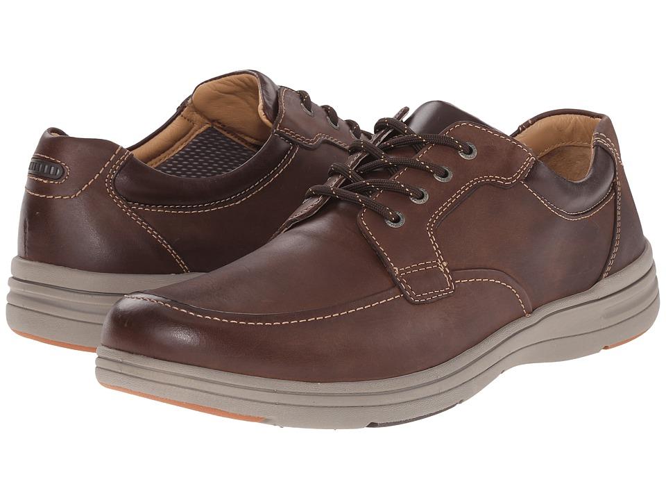 Johnston & Murphy - Matthews Moc Toe (Brown Full Grain) Men's Lace up casual Shoes