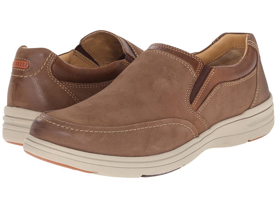Johnston & Murphy - Matthews Slip-On (Taupe Tumbled Nubuck) Men's Slip on Shoes