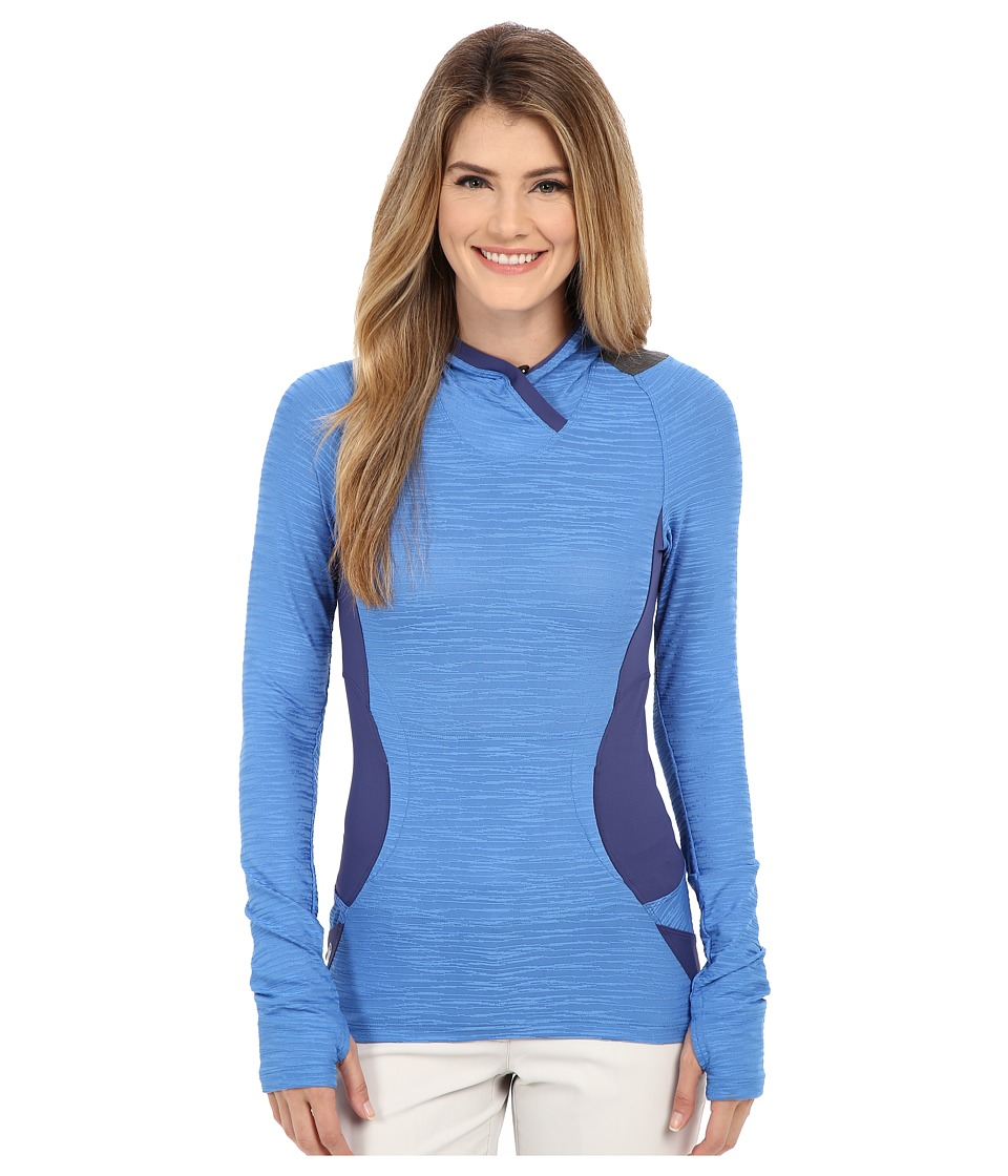 Pearl Izumi - Flash Hoodie (Sky Blue/Deep Indigo) Women's Sweatshirt