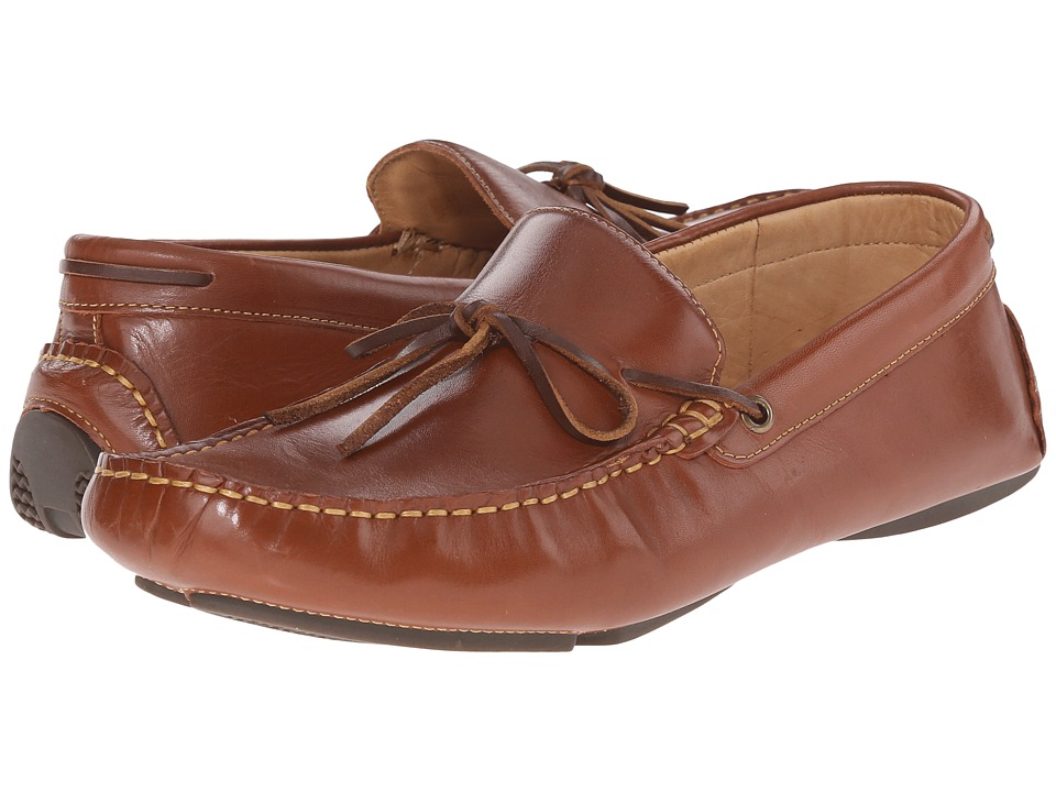 Johnston & Murphy - Hardiman Tie Driver (Tan Full Grain) Men's Slip on Shoes
