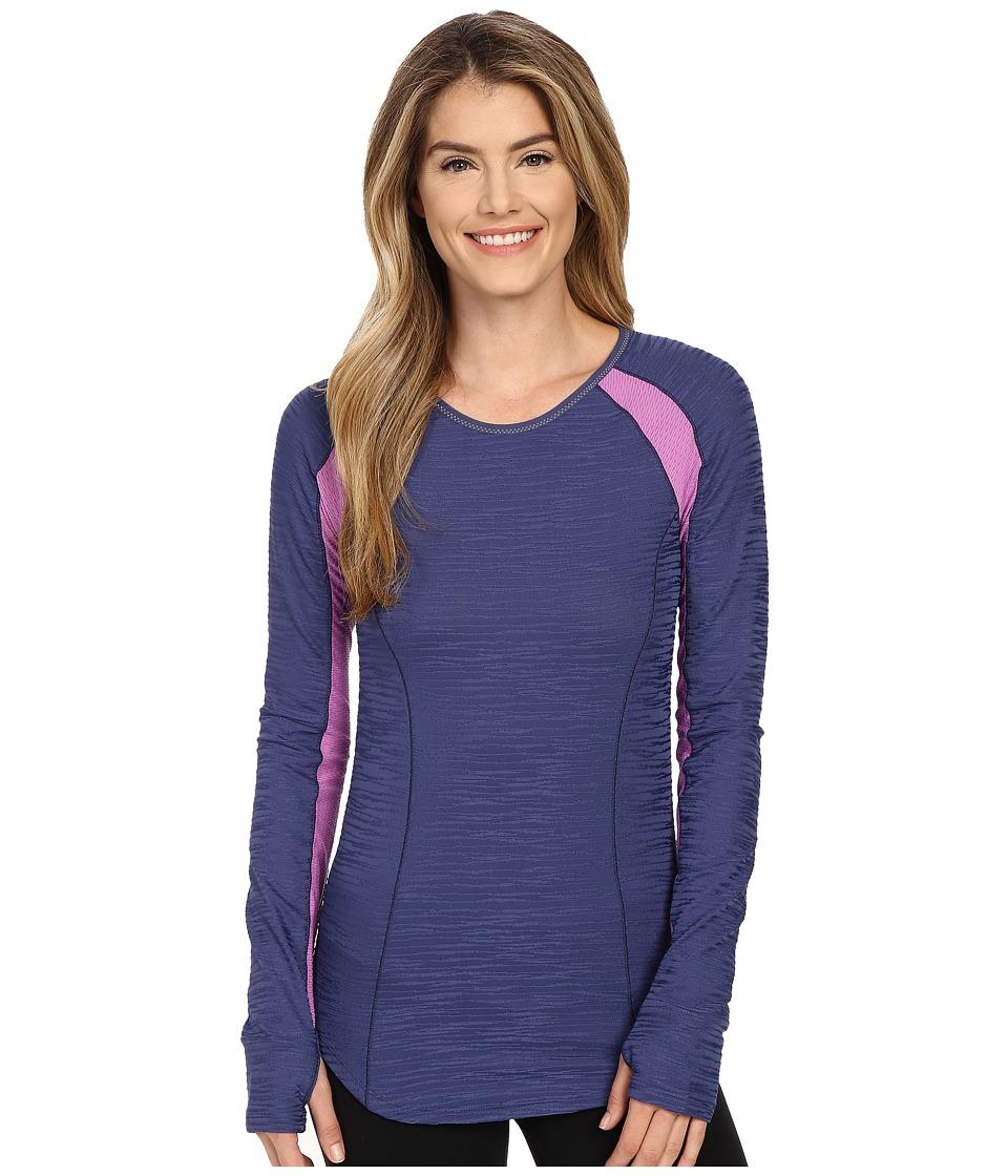 Pearl Izumi - Flash Long Sleeve Shirt (Deep Indigo/Iris Orchid) Women's Workout