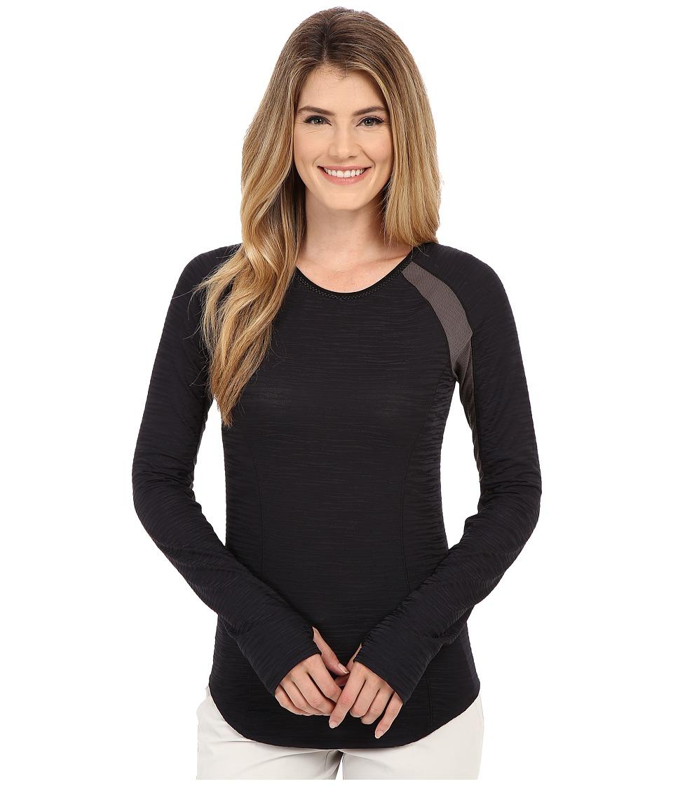 Pearl Izumi - Flash Long Sleeve Shirt (Black/Shadow Grey) Women's Workout