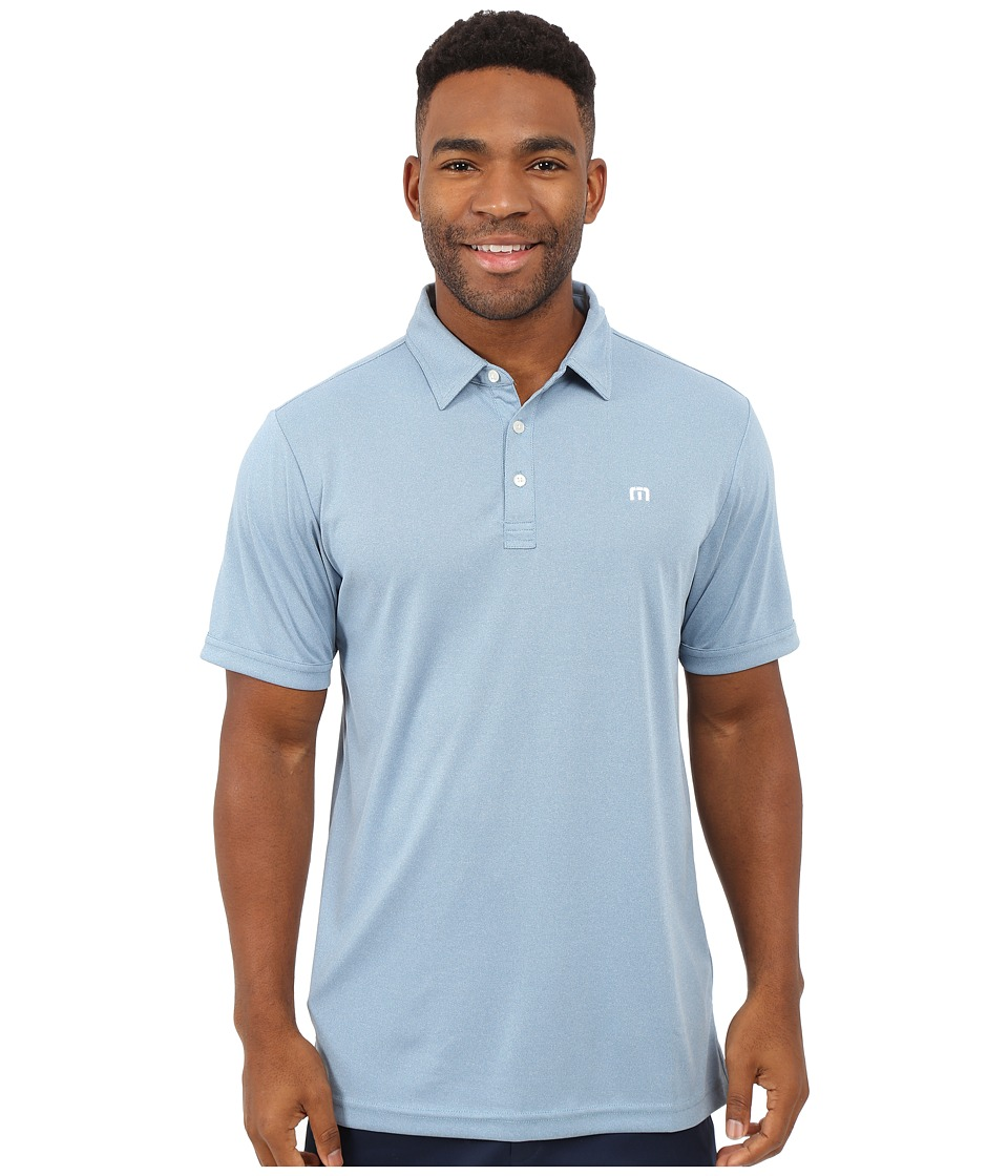 TravisMathew - Outboard Top (Heather Provincial Blue) Men's Short Sleeve Knit