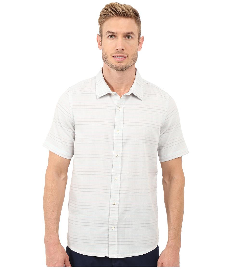 TravisMathew - Long Board Top (Lunar Rock) Men's Short Sleeve Button Up