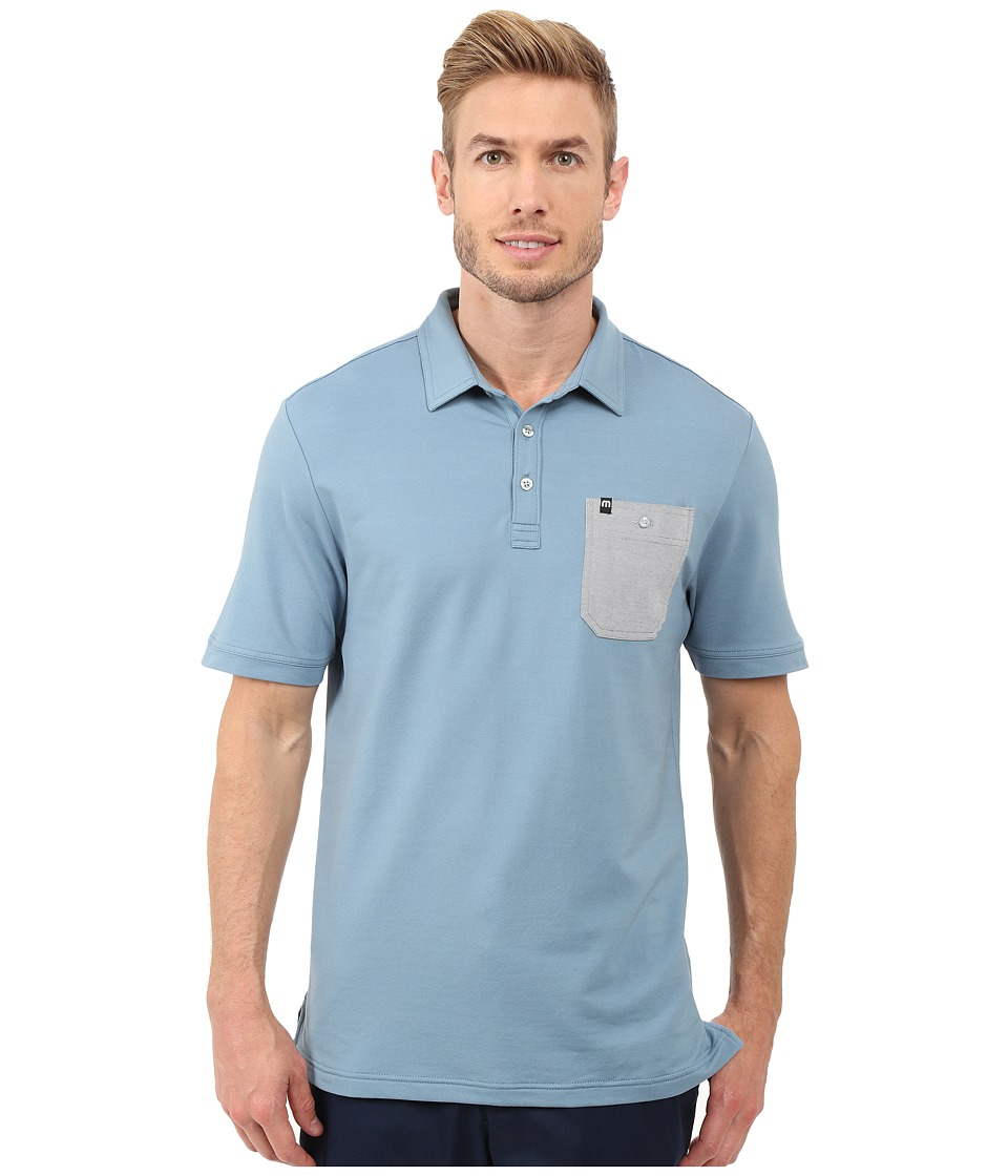 TravisMathew - Lonie Top (Provincial Blue) Men's Short Sleeve Knit