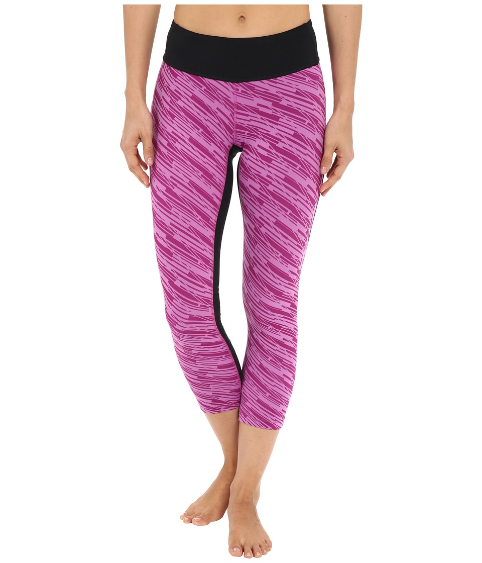Pearl Izumi - Flash 3/4 Print Tights (Black/Purple Wine Print) Women's Casual Pants