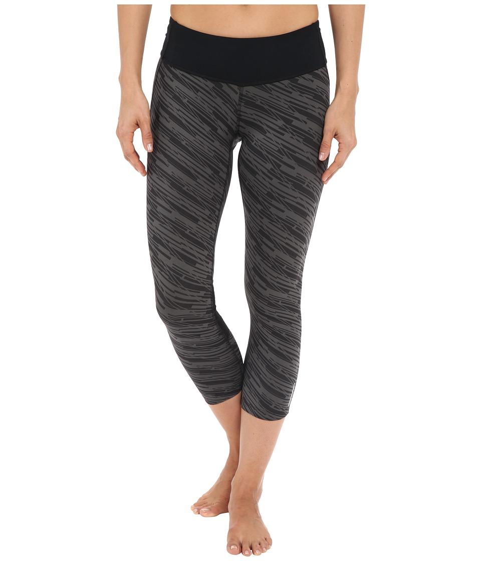Pearl Izumi - Flash 3/4 Print Tights (Black/Shadow Grey Print) Women's Casual Pants