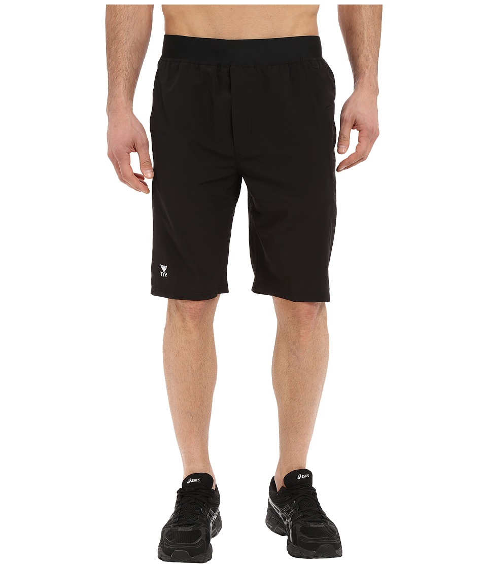 TYR - Solid Full Move Land to Water Shorts (Black) Men's Shorts