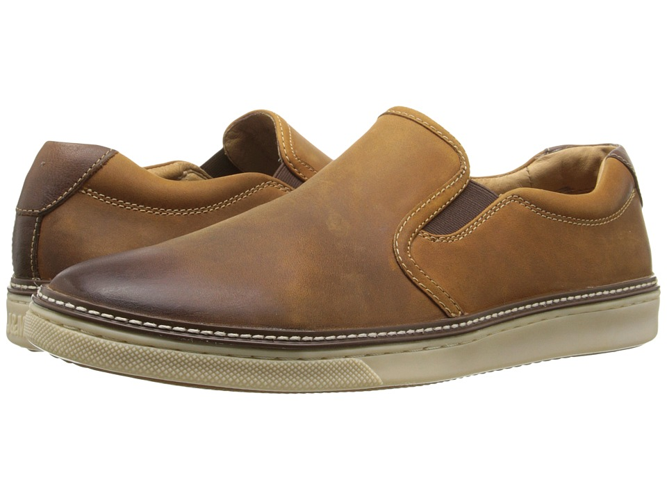 Johnston & Murphy McGuffey Slip-On (Tan Oiled Full Grain) Men