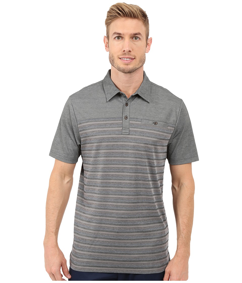 TravisMathew - Cutback Top (Heather Castlerock) Men's Short Sleeve Knit
