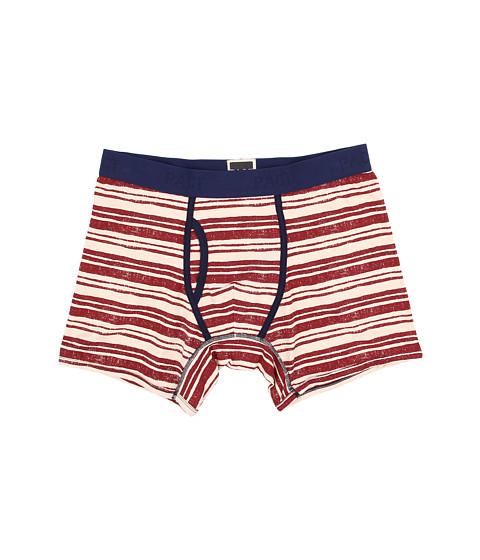 PACT - Crosswalk Stripe Boxer Brief (Red) Men's Underwear