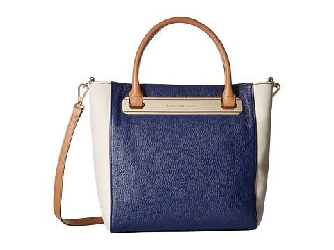 Tommy Hilfiger - Harper Small Convertible Tote (Cobalt/Natural) Tote Handbags