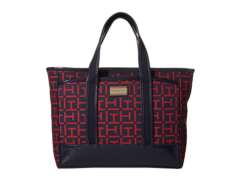 Tommy Hilfiger - Ashley Medium Convertible Shopper (Navy/Red) Tote Handbags