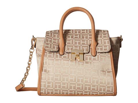 Tommy Hilfiger - TH Turnlock Mini Shopper (Khaki/Tonal) Tote Handbags