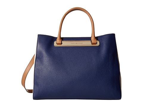 Tommy Hilfiger - Harper Convertible Shopper (Cobalt/Natural) Tote Handbags