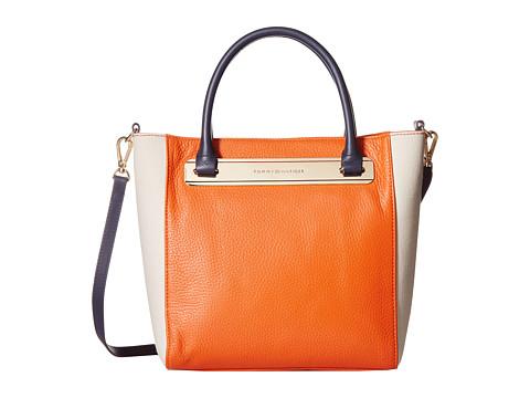 Tommy Hilfiger - Harper Small Convertible Tote (Papaya/Natural) Tote Handbags