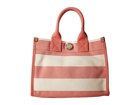 Tommy Hilfiger - Tommy Shopper Medium Tote (Papaya/Natural) Tote Handbags