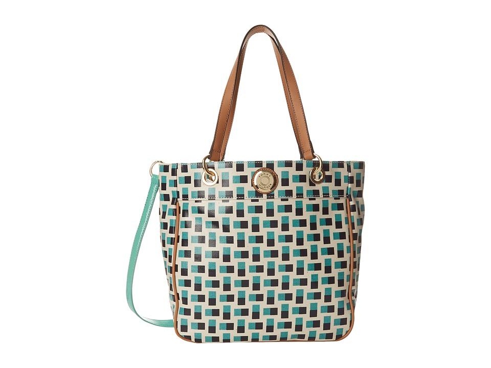 Tommy Hilfiger - Meredith Convertible Tote (Posy/Navy) Tote Handbags