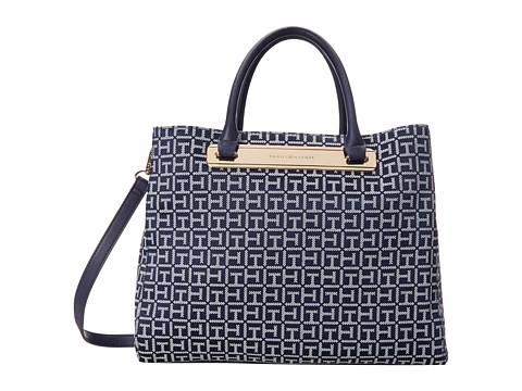 Tommy Hilfiger - Harper Convertible Shopper (Navy/White) Tote Handbags