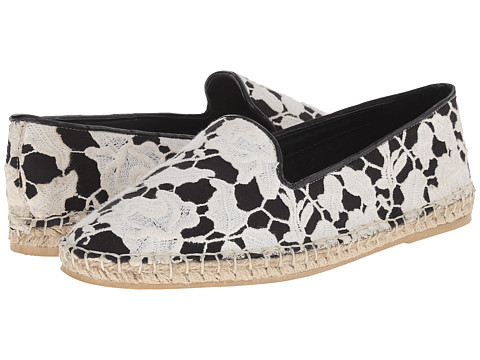 Cole Haan - Palermo Espadrille (Black/White Lace) Women's Shoes